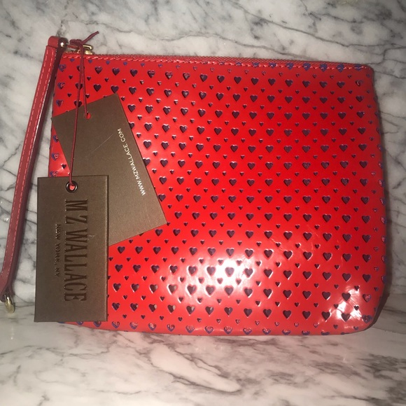 5a1360e9af5 MZ Wallace Bags | Red Hearts Clutch | Poshmark